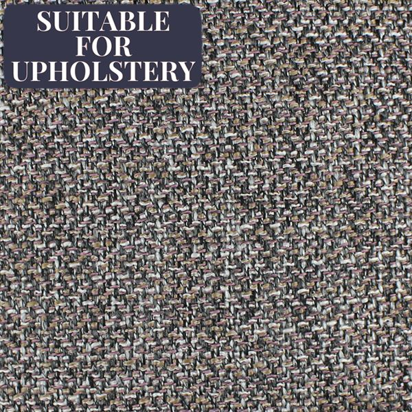 McAlister Textiles Lewis Grey Heather Tweed Fabric Fabrics 1/2 Metre