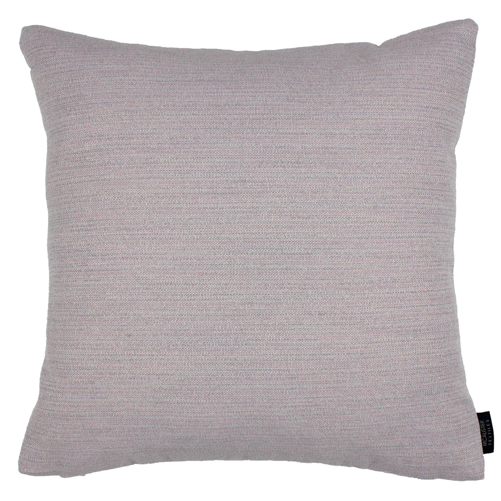 McAlister Textiles Hamleton Lilac Purple Textured Plain Cushion Cushions and Covers Cover Only 49cm x 49cm