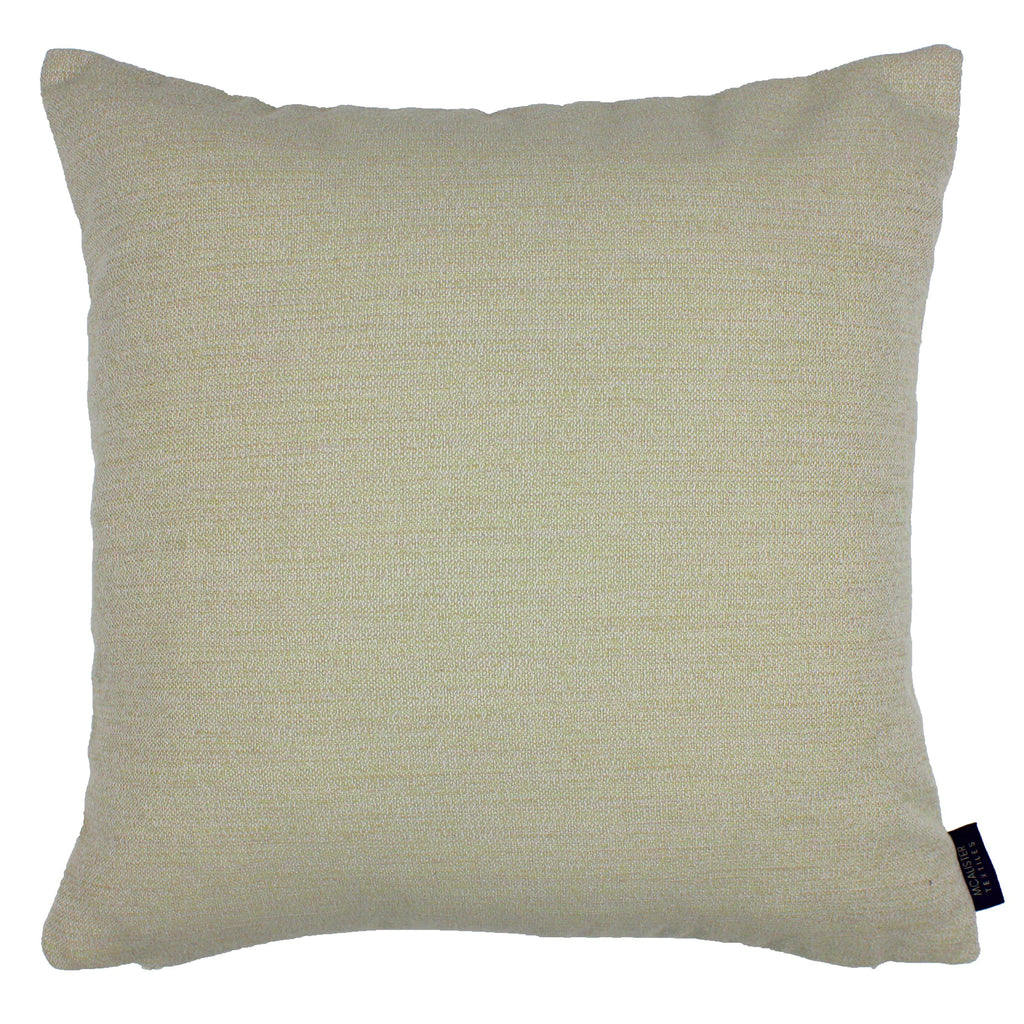 McAlister Textiles Hamleton Soft Green Textured Plain Cushion Cushions and Covers Cover Only 49cm x 49cm