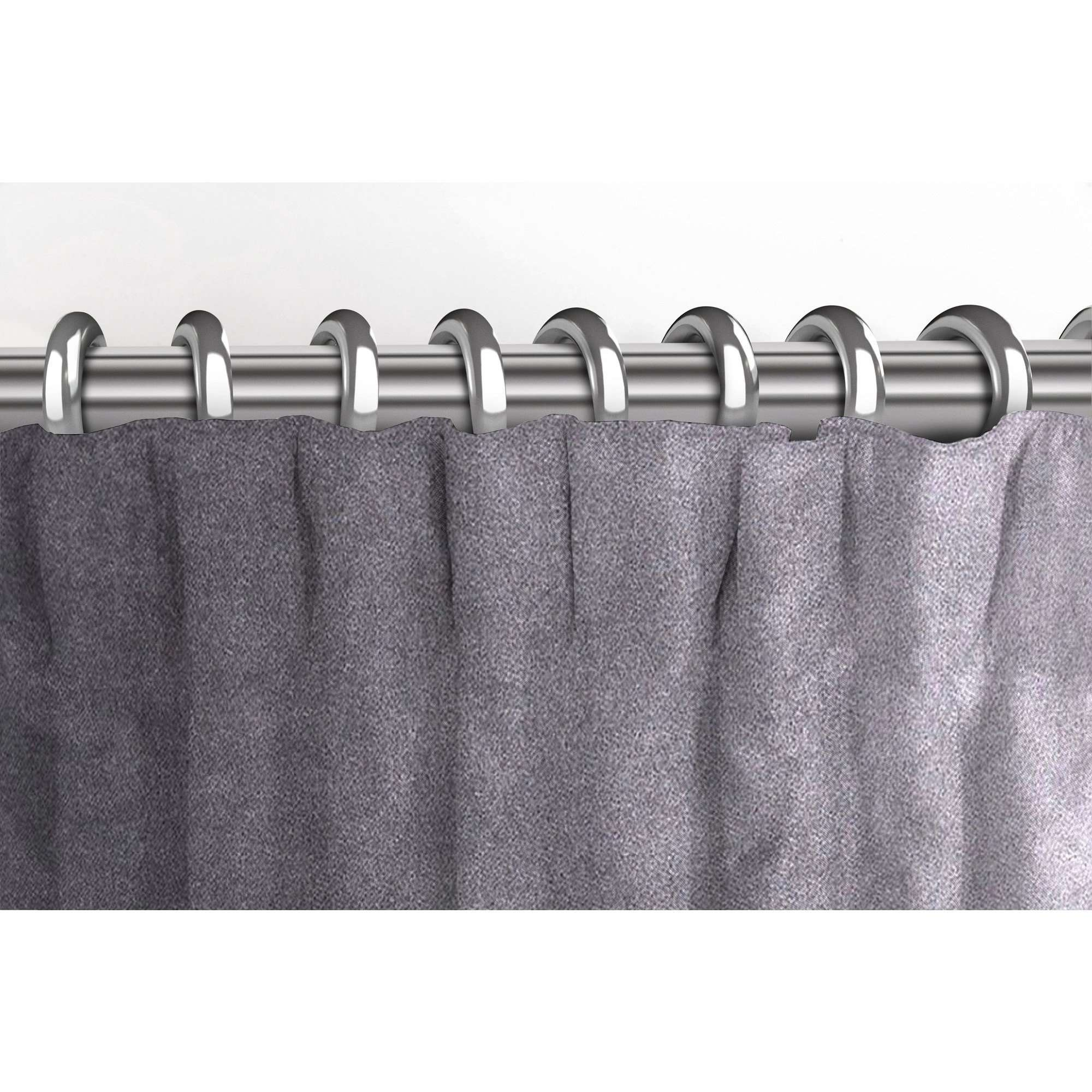 McAlister Textiles Matt Soft Silver Velvet Curtains Tailored Curtains