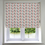 Load image into Gallery viewer, McAlister Textiles Lotta Blush Pink + Grey Roman Blind Roman Blinds Standard Lining 130cm x 200cm