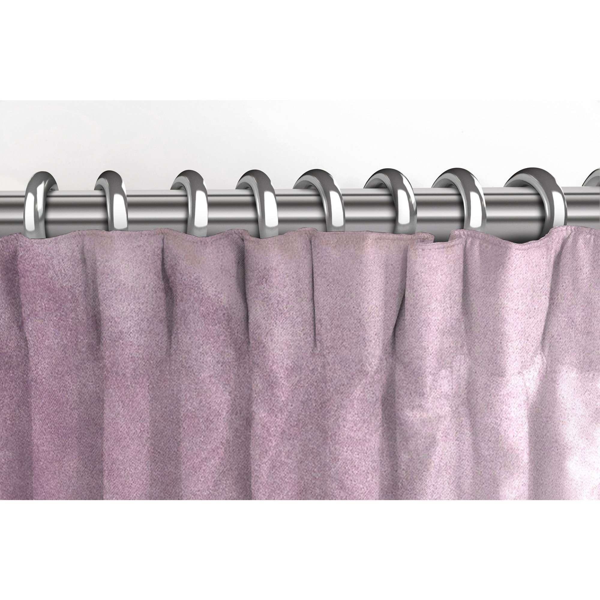 McAlister Textiles Matt Lilac Purple Velvet Curtains Tailored Curtains