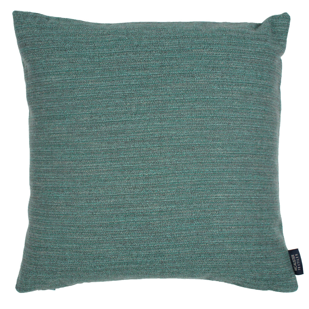 McAlister Textiles Hamleton Teal Textured Plain Cushion Cushions and Covers Cover Only 49cm x 49cm