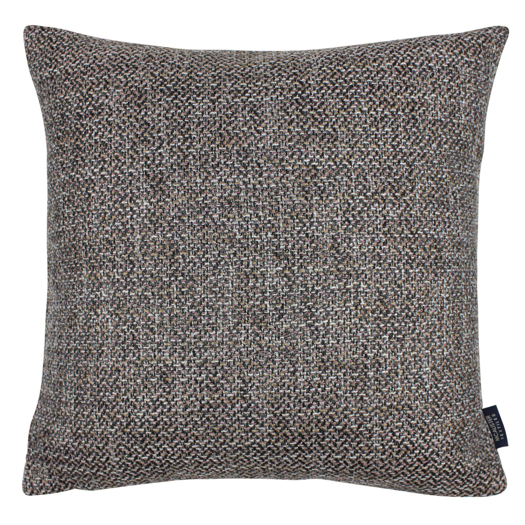 McAlister Textiles Lewis Tweed Cushion Grey Heather and Pink Cushions and Covers Cover Only 43cm x 43cm