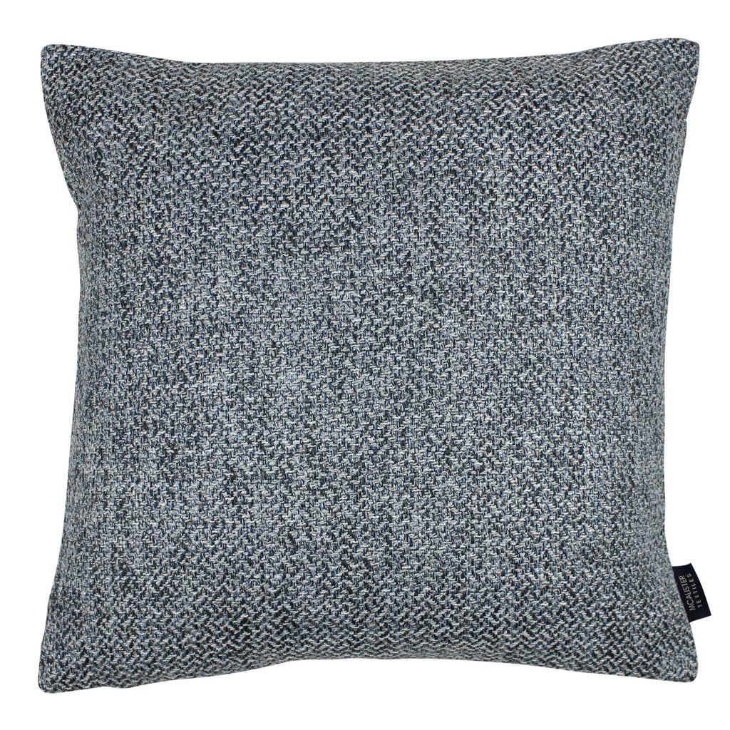 McAlister Textiles Harris Tweed Cushion - Blue & Grey Cushions and Covers Cover Only 43cm x 43cm