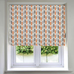 Load image into Gallery viewer, McAlister Textiles Lotta Burnt Orange + Grey Roman Blind Roman Blinds Standard Lining 130cm x 200cm
