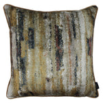 Charger l'image dans la galerie, McAlister Textiles Aura Ochre Printed Velvet Cushions Cushions and Covers Cover Only 43cm x 43cm