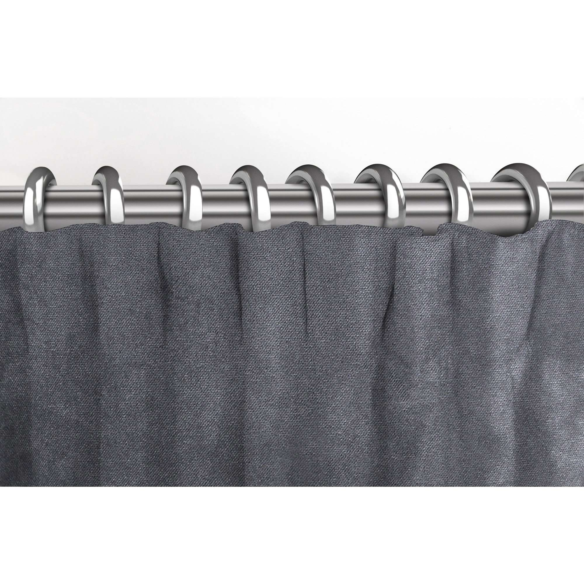 McAlister Textiles Matt Charcoal Grey Velvet Curtains Tailored Curtains