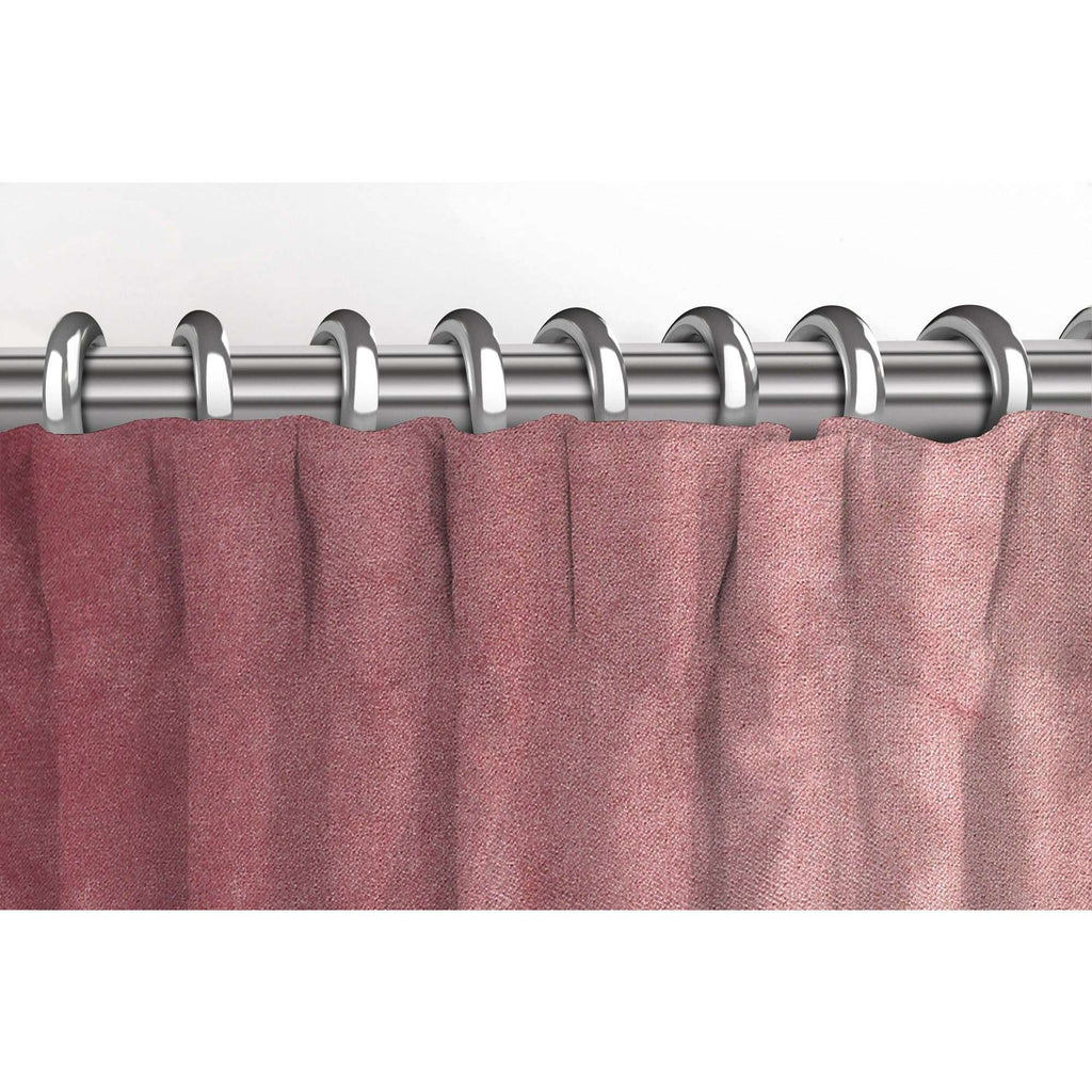 McAlister Textiles Matt Blush Pink Velvet Curtains Tailored Curtains