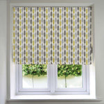 Load image into Gallery viewer, McAlister Textiles Lotta Yellow + Grey Roman Blind Roman Blinds Standard Lining 130cm x 200cm