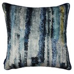 Carica l'immagine nel visualizzatore di Gallery, McAlister Textiles Aura Navy Blue Printed Velvet Pillow Pillow Cover Only 43cm x 43cm