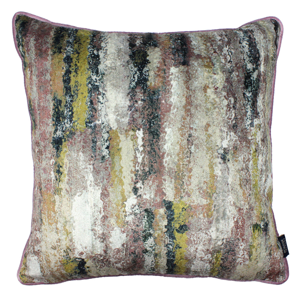 McAlister Textiles Aura Blush Pink Printed Velvet Cushions Cushions and Covers Cover Only 43cm x 43cm