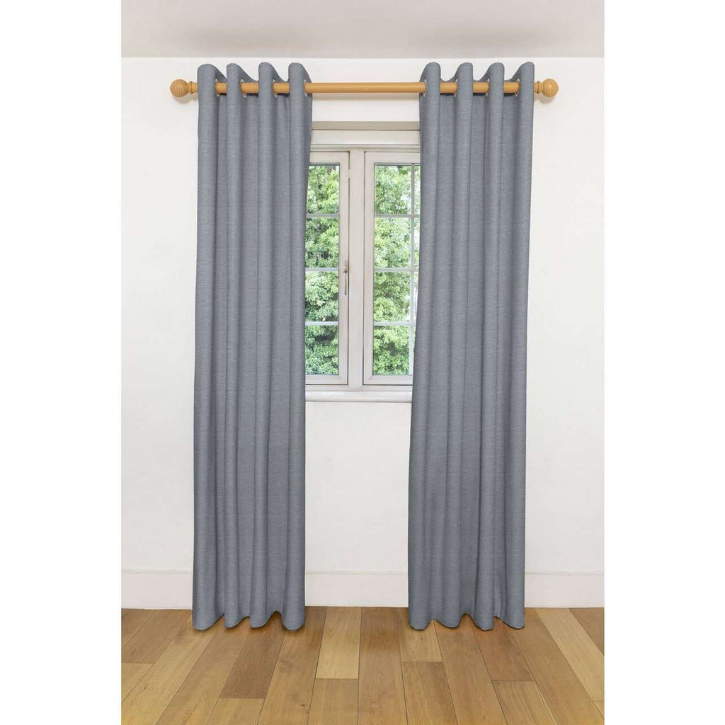 "McAlister Textiles Herringbone Twill Black + White Curtains Tailored Curtains 116cm(w) x 182cm(d) (46"" x 72"")"