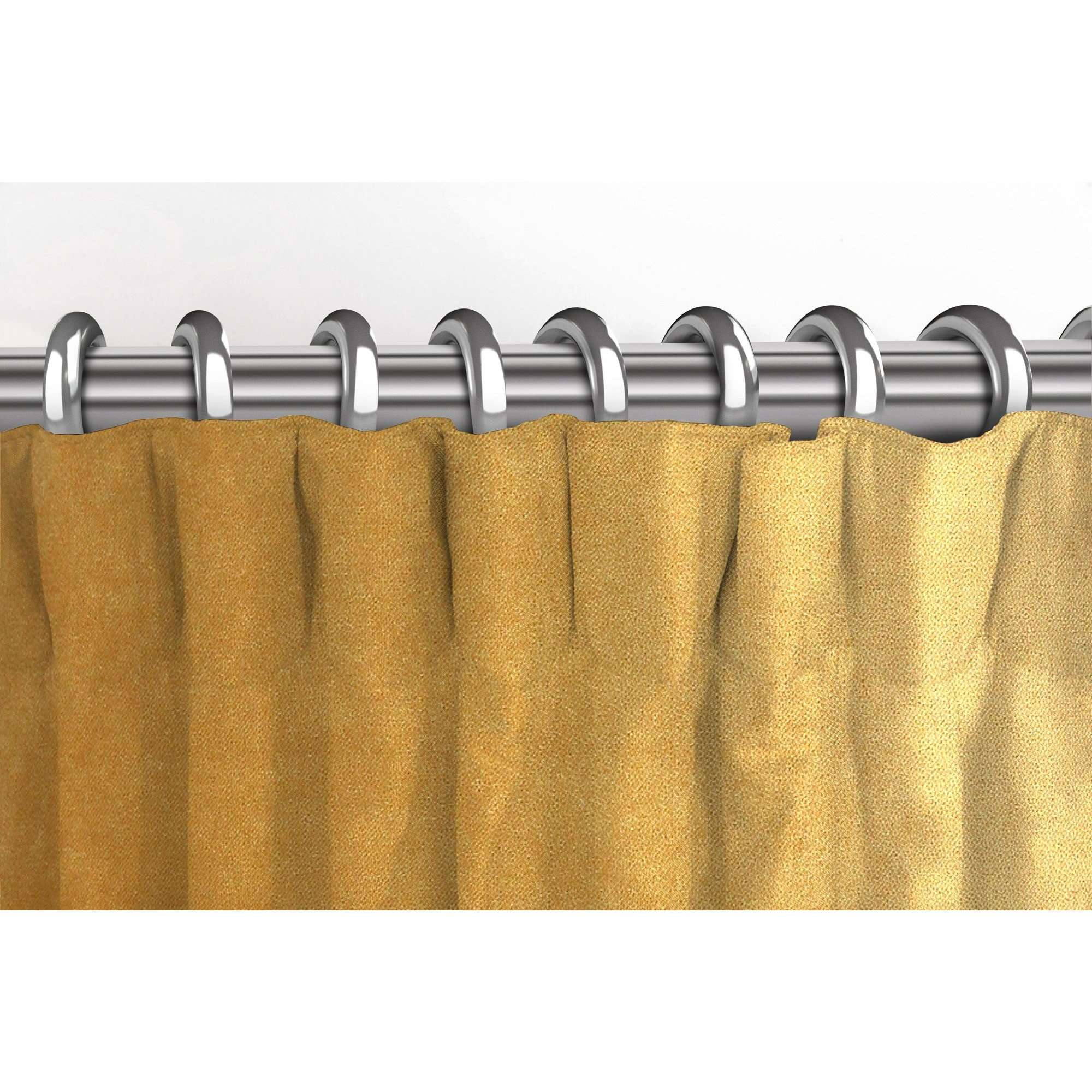 McAlister Textiles Matt Ochre Yellow Velvet Curtains Tailored Curtains