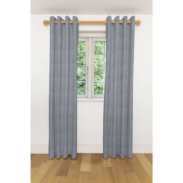 "McAlister Textiles Acapulco Black + White Curtains Tailored Curtains Pencil Pleat Standard Lining 116cm(w) x 137cm(d) (46"" x 54"")"