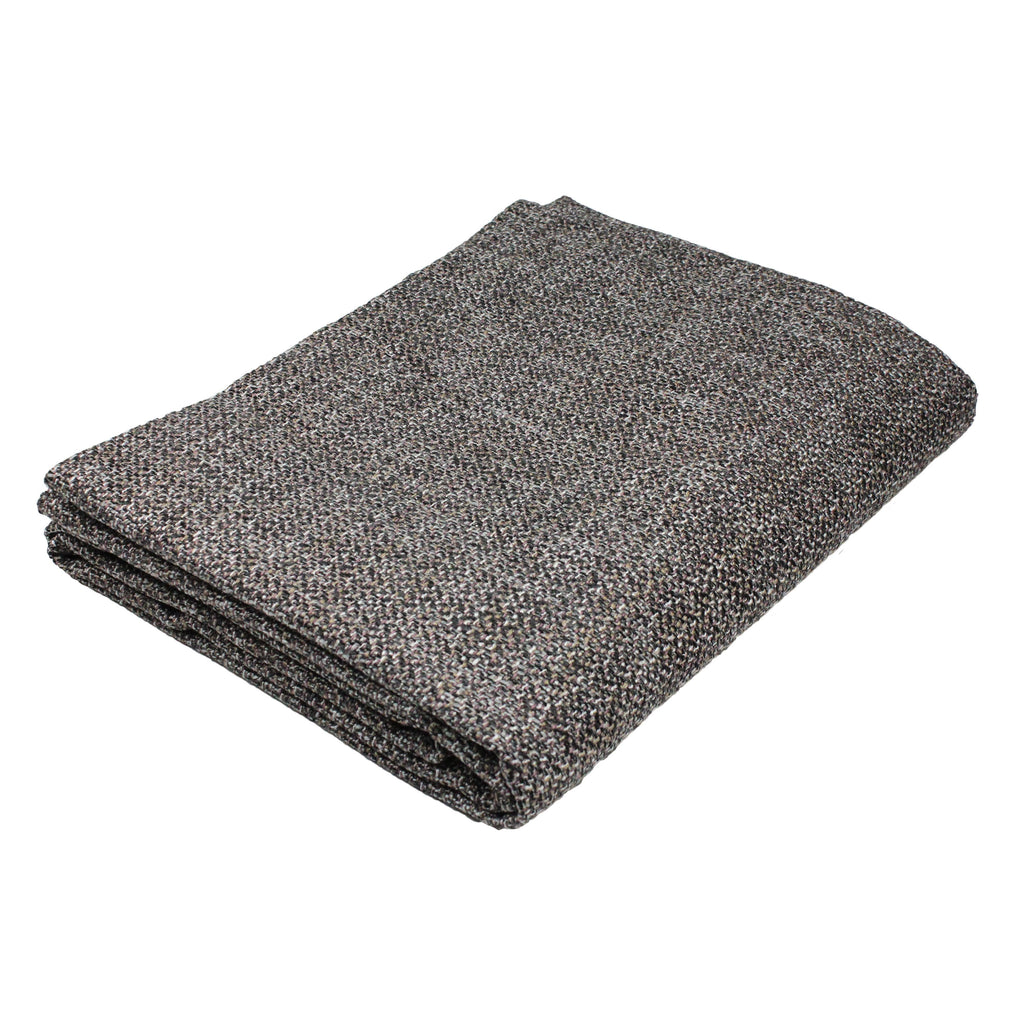 McAlister Textiles Lewis Tweed Throws and Runners Grey Heather Throws and Runners Bed Runner (50cm x 240cm)