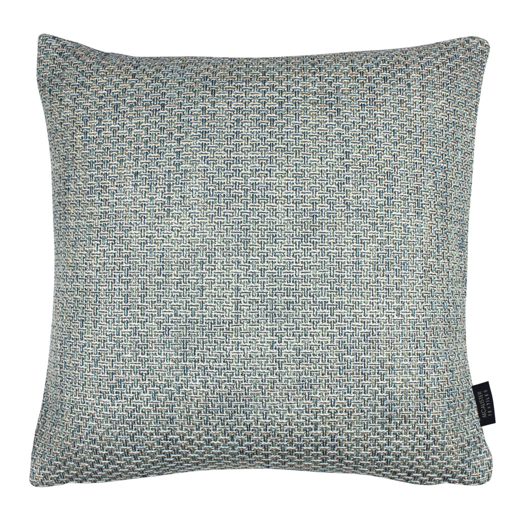 McAlister Textiles Skye Tweed Cushion - Teal Cushions and Covers Cover Only 43cm x 43cm