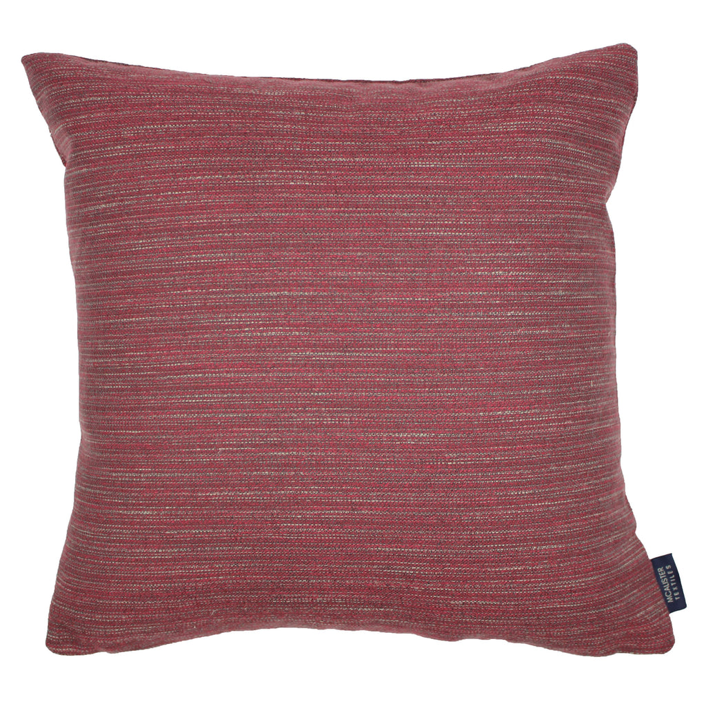 McAlister Textiles Hamleton Red Textured Plain Cushion Cushions and Covers Cover Only 49cm x 49cm