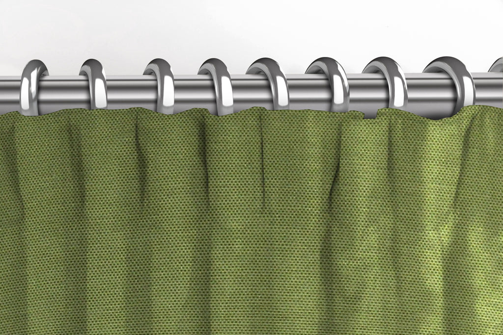 McAlister Textiles Panama Plain Fern Green Curtains Tailored Curtains