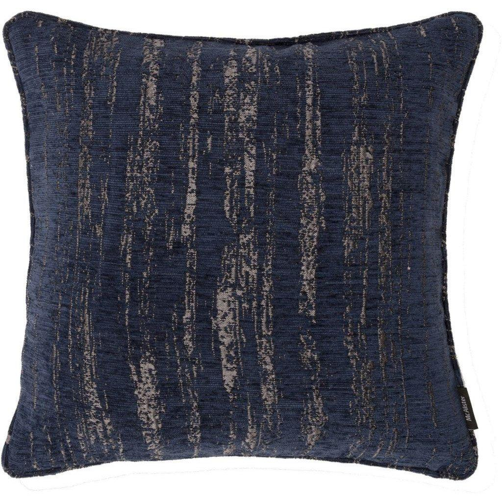 McAlister Textiles Textured Chenille Navy Blue Cushion Cushions and Covers Polyester Filler 49cm x 49cm