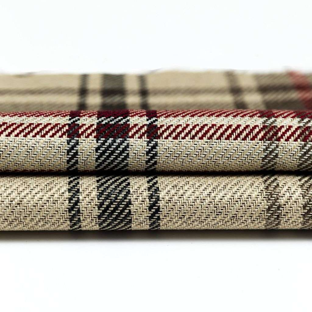 McAlister Textiles Angus Red + White Tartan Throw Throws and Runners