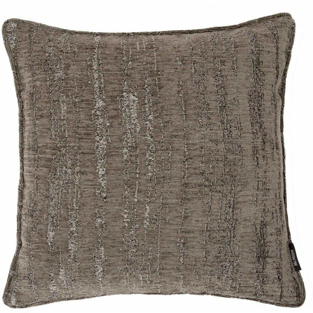 McAlister Textiles Textured Chenille Charcoal Grey Cushion Cushions and Covers Polyester Filler 49cm x 49cm