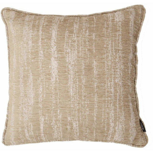 McAlister Textiles Textured Chenille Beige Cream Cushion Cushions and Covers Polyester Filler 49cm x 49cm