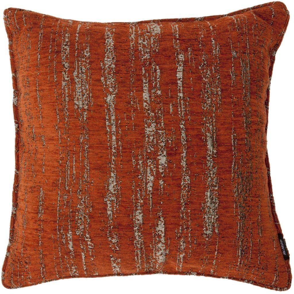 McAlister Textiles Woven Semi Plain Textured Chenille Fabric Pillow Cushion Covers Burnt Orange