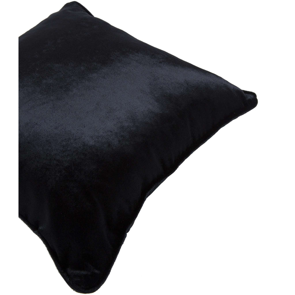 McAlister Textiles Black Crushed Velvet Cushions Cushions and Covers