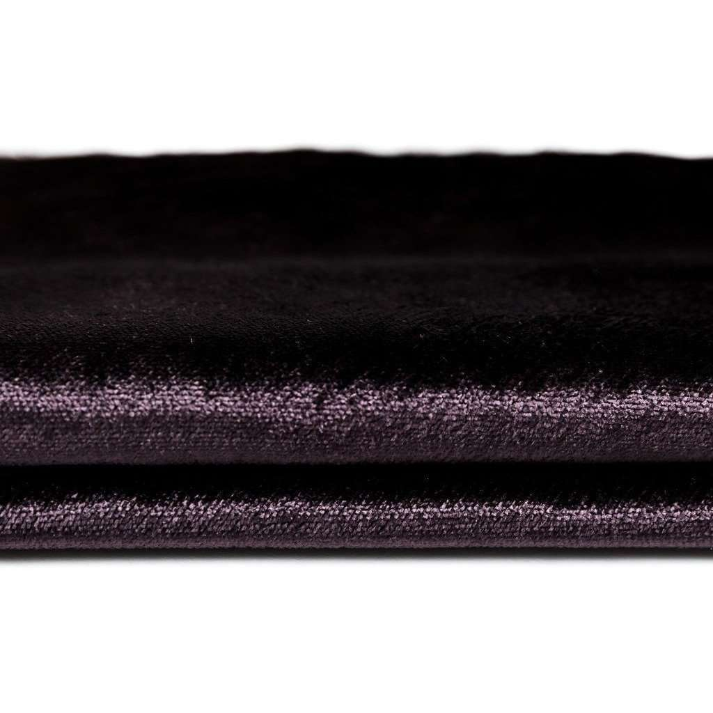 McAlister Textiles Aubergine Purple Crushed Velvet Throw Throws and Runners
