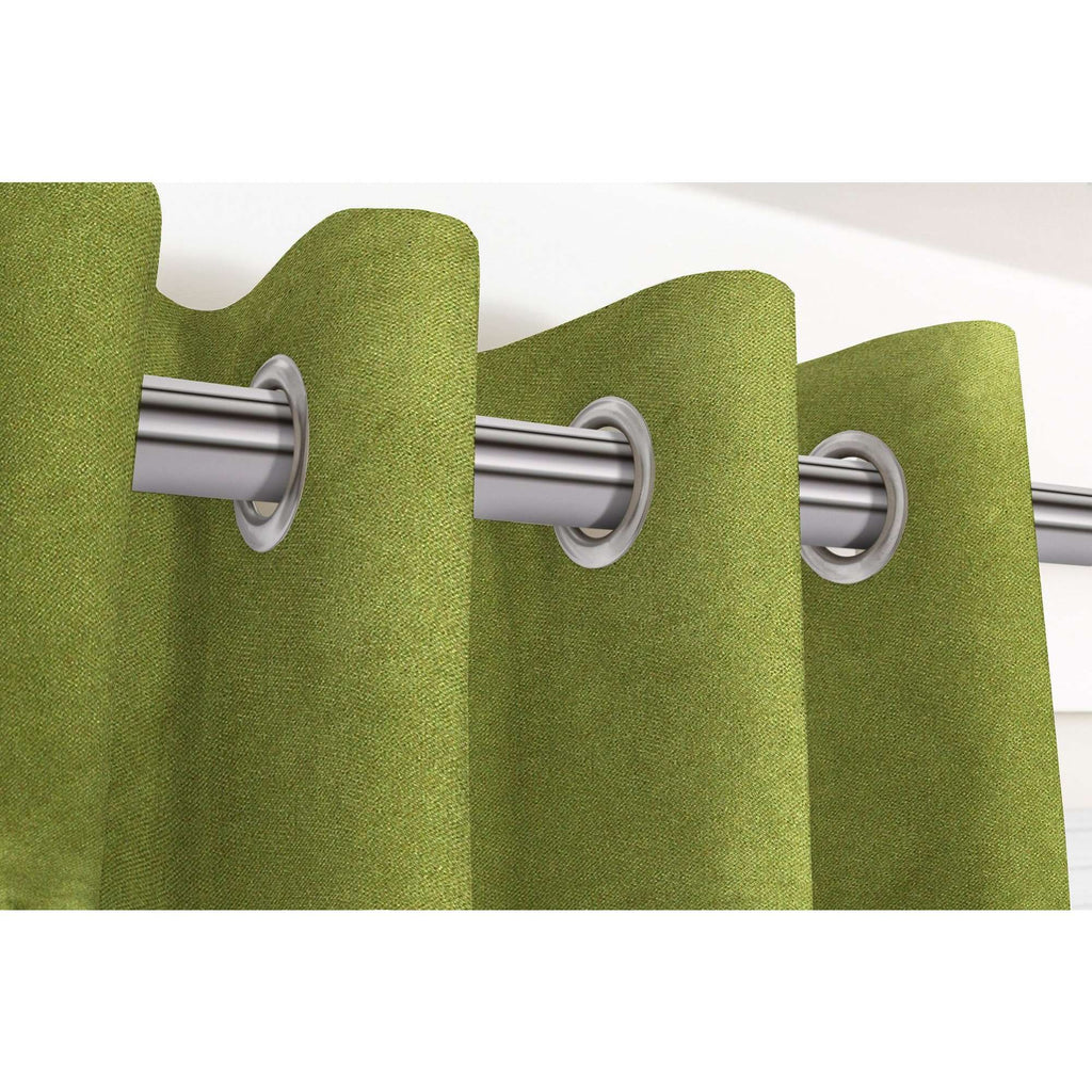 McAlister Textiles Matt Lime Green Velvet Curtains Tailored Curtains