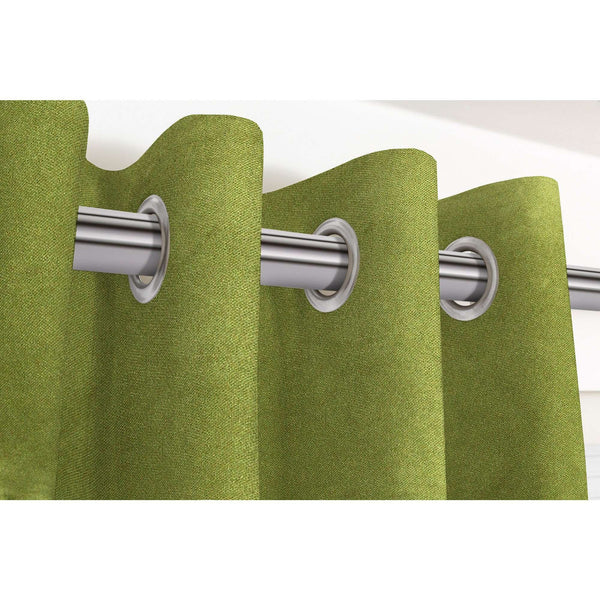 "McAlister Textiles Matt Lime Green Velvet Curtains Tailored Curtains 116cm(w) x 182cm(d) (46"" x 72"")"