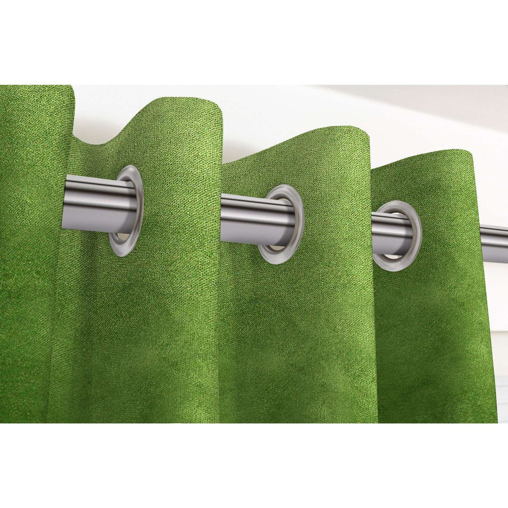 "McAlister Textiles Matt Fern Green Velvet Curtains Tailored Curtains 116cm(w) x 182cm(d) (46"" x 72"")"