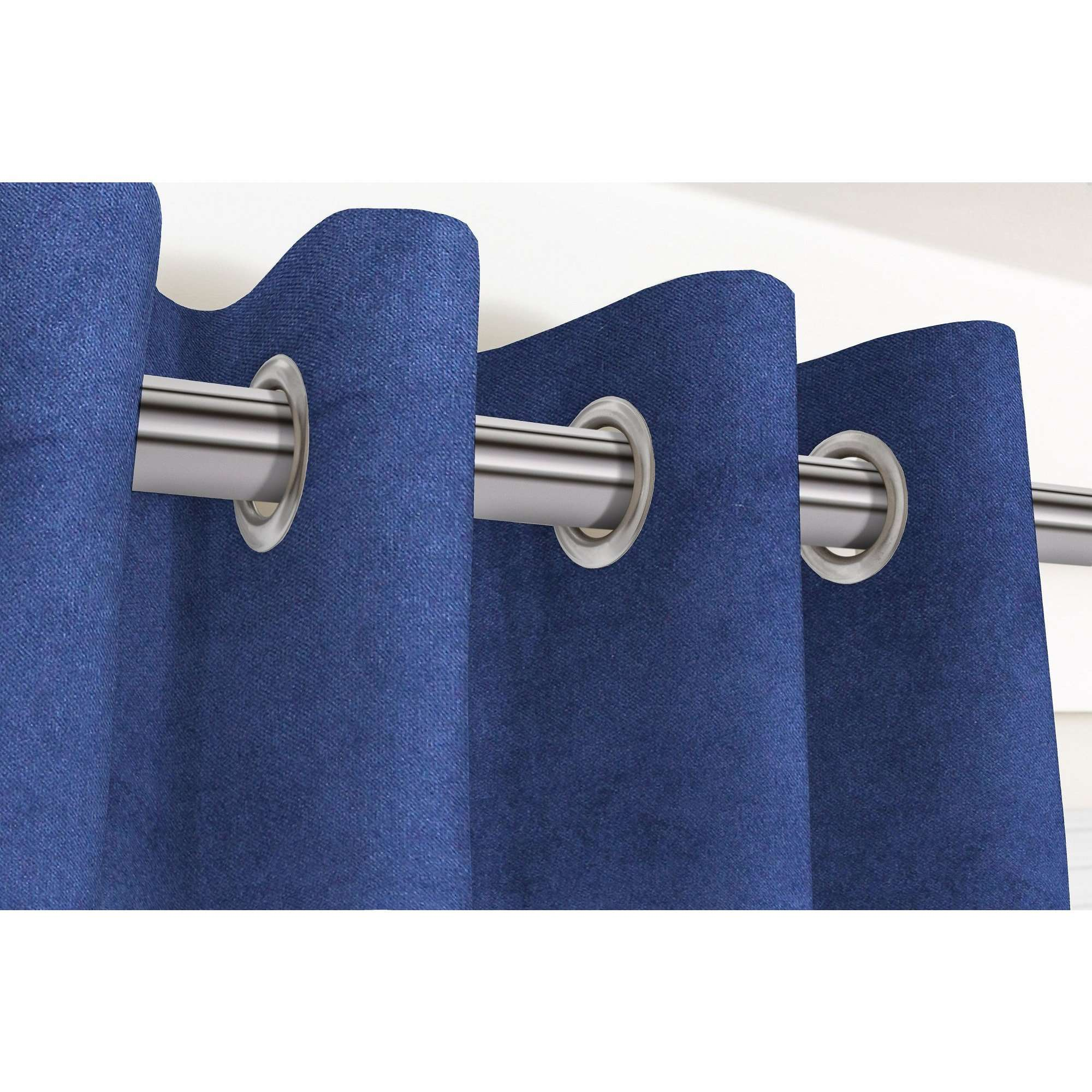 McAlister Textiles Matt Navy Blue Velvet Curtains Tailored Curtains