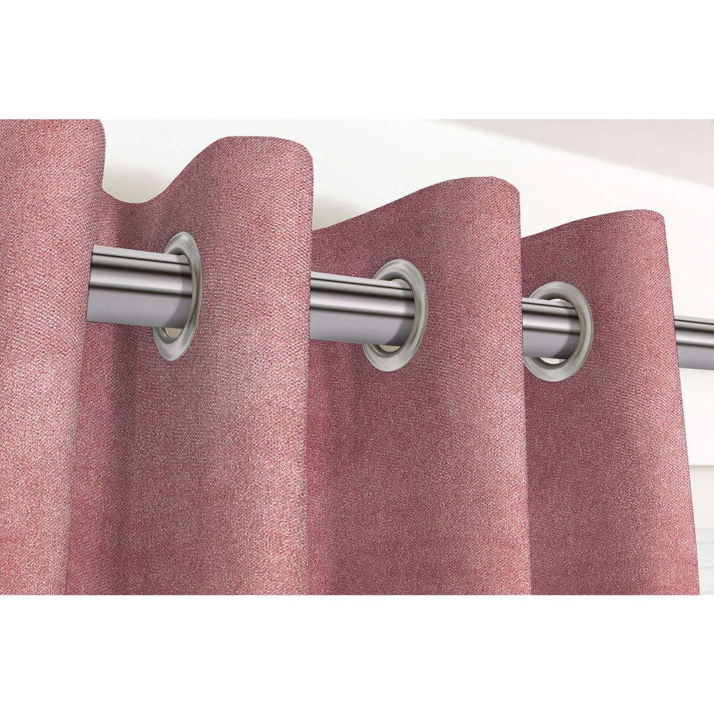 "McAlister Textiles Matt Blush Pink Velvet Curtains Tailored Curtains 116cm(w) x 182cm(d) (46"" x 72"")"