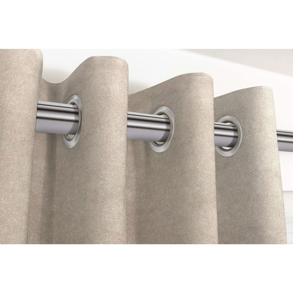 "McAlister Textiles Matt Beige Mink Velvet Curtains Tailored Curtains Pencil Pleat Standard Lining 116cm(w) x 137cm(d) (46"" x 54"")"
