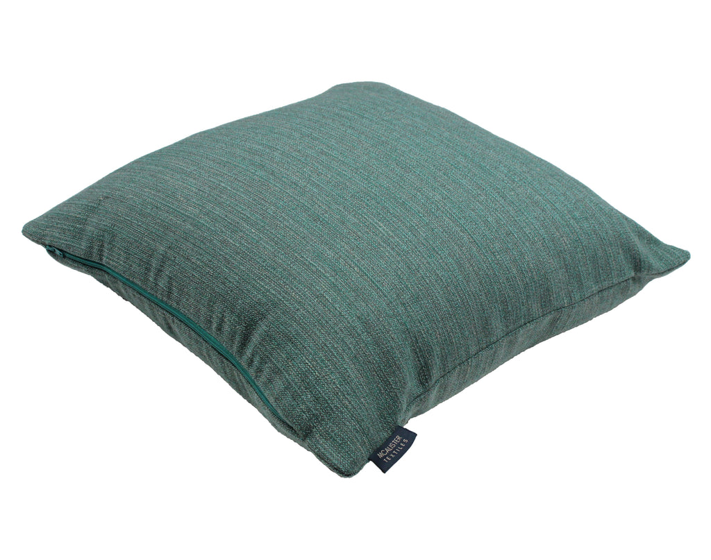 McAlister Textiles Hamleton Teal Textured Plain Cushion Cushions and Covers