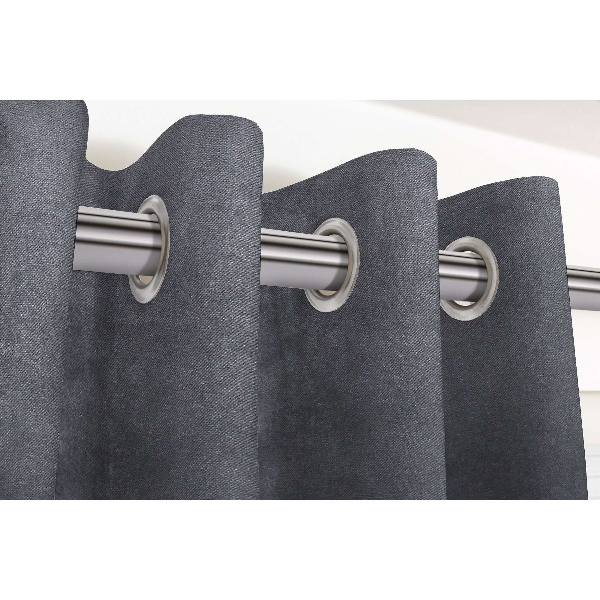 "McAlister Textiles Matt Charcoal Grey Velvet Curtains Tailored Curtains 116cm(w) x 182cm(d) (46"" x 72"")"