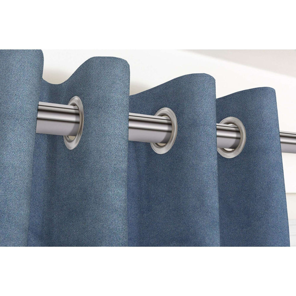 McAlister Textiles Matt Petrol Blue Velvet Curtains Tailored Curtains