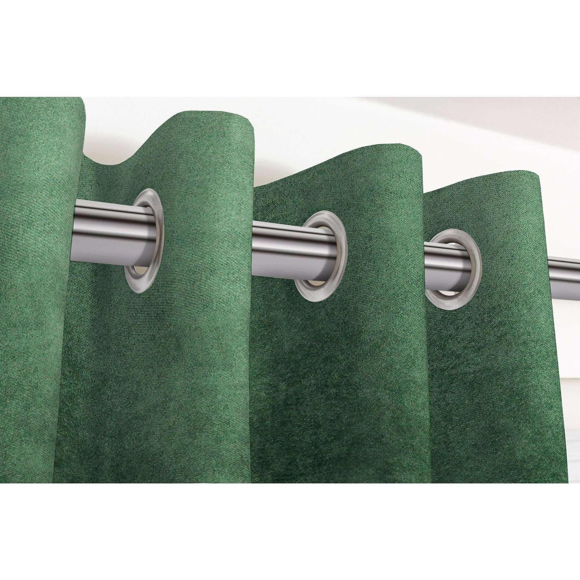 "McAlister Textiles Matt Moss Green Velvet Curtains Tailored Curtains 116cm(w) x 182cm(d) (46"" x 72"")"