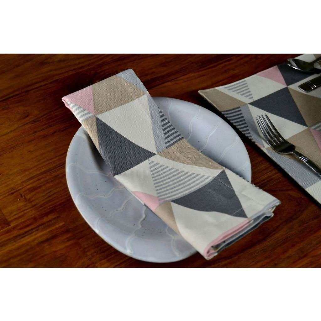 McAlister Textiles Vita Blush Pink Cotton Napkin Set Kitchen Accessories