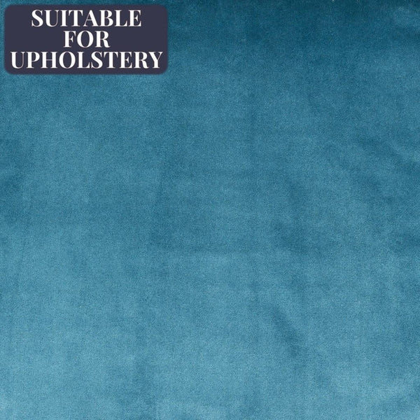 McAlister Textiles Matt Velvet Fabric Sample - Plain Duck Egg Blue-Fabrics-