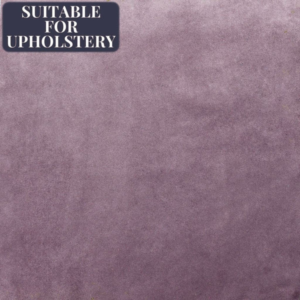 McAlister Textiles Matt Velvet Fabric Sample - Plain Heather Purple-Fabrics-