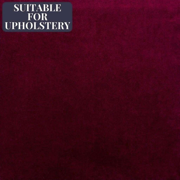 McAlister Textiles Matt Velvet Fabric Sample - Plain Burgundy Wine Red-Fabrics-