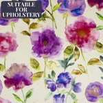 Load image into Gallery viewer, McAlister Textiles Renoir Floral Violet Purple Velvet Fabric Fabrics