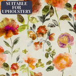Load image into Gallery viewer, McAlister Textiles Renoir Floral Orange Velvet Fabric Fabrics