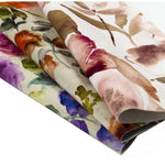 Load image into Gallery viewer, McAlister Textiles Renoir Floral Violet Purple Velvet Curtains Tailored Curtains