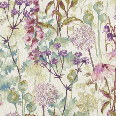McAlister Textiles Wildflower Floral Pastel Purple Fabric-Fabrics-
