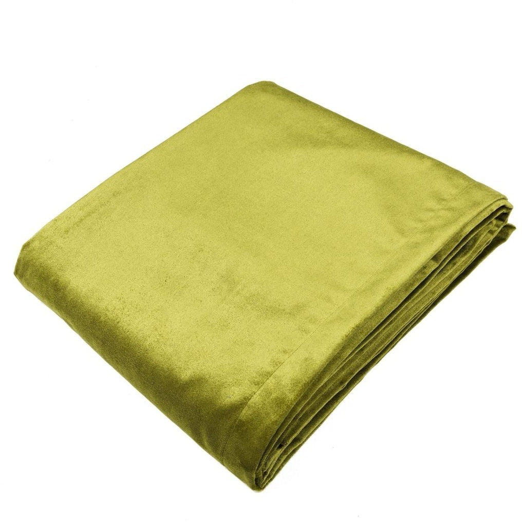 McAlister Textiles Matt Lime Green Velvet Throw Blankets & Runners Throws and Runners Regular (130cm x 200cm)