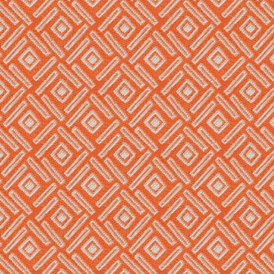 McAlister Textiles Elva Geometric Burnt Orange Curtains Tailored Curtains